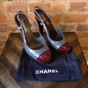 Chanel Two Tone Patent Pumps